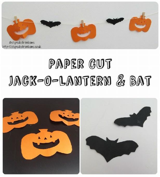 Paper Cut Jack-O-Lantern & Bat