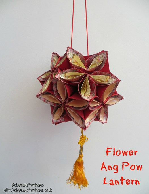 Ang pow flower lantern et speaks from home for Ang pow koi fish tutorial
