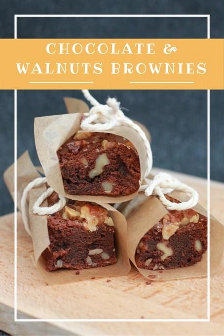 chocolate and walnuts brownies