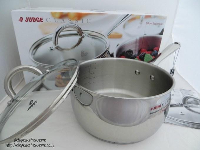 judge cookware classic 20cm saucepan
