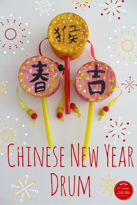 chinese new year craft ideas for preschoolers new year drum et speaks from home 7989