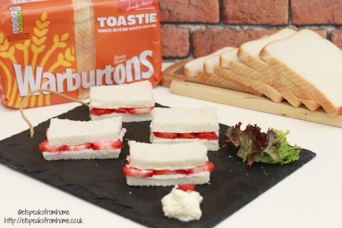 strawberry cream cheese sandwich warburtons
