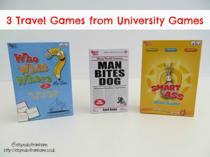 3 Travel Games from University Games