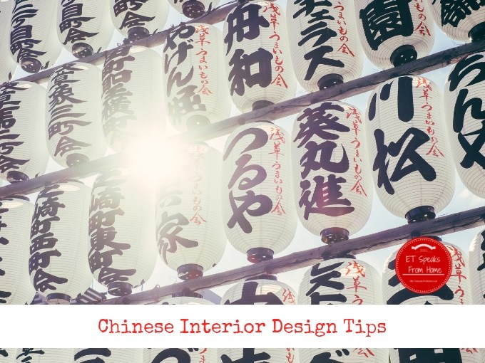 Chinese interior design tips