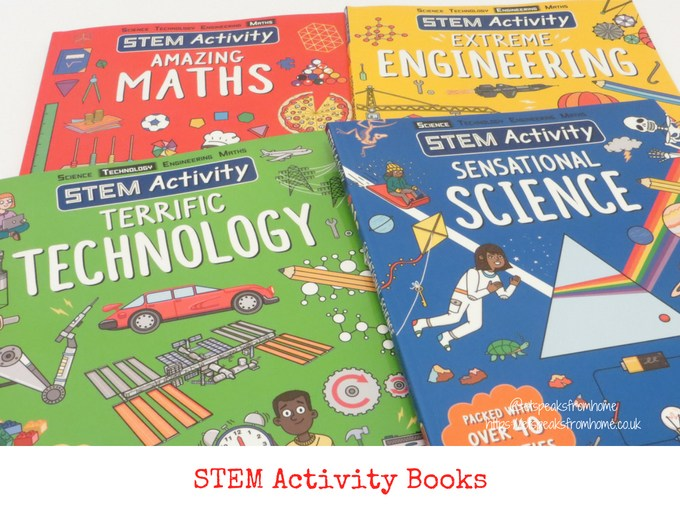 stem activity book from carlton books