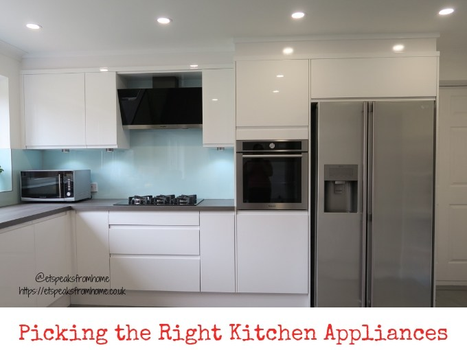 Picking the Right Kitchen Appliances