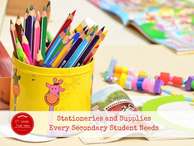 Stationeries and Supplies Every Secondary Student Needs