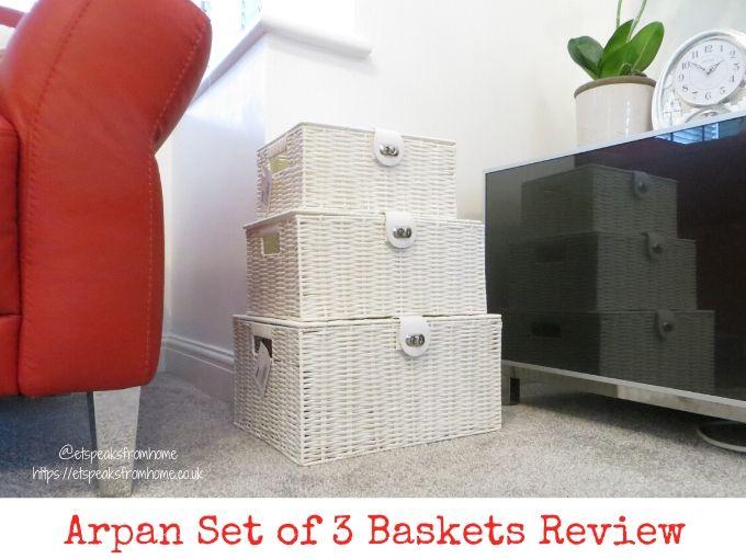 Arpan Set of 3 Baskets Review