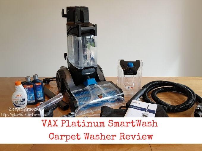 VAX Platinum SmartWash Carpet Washer Review